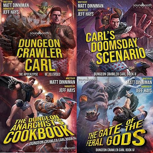 Dungeon Crawler Carl Series Book 1-4 - Matt Dinniman